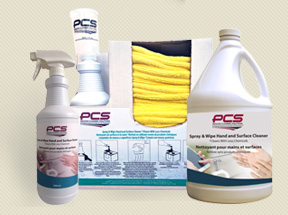 PCS Spray and Wipe Hand and Surface Cleaner