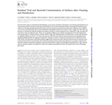 Residual Viral and Bacterial Contamination of Surfaces after Cleaning and Disinfection